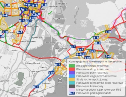 Zobacz mapę rowerową Szczecina